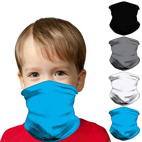 Kids Face Mask Bandanas, Full-Coverage Tube Bandana UV Protection Neck Gaiter Headband for 3-12 Years Boys Girls
