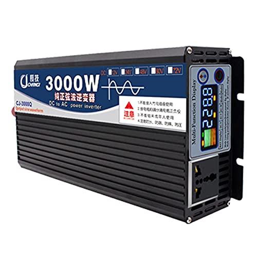 SGSG 3000 4000 5000 Watt Inversor de Corriente, DC 12V / 24V a 110V / 120V AC Convertidor Adaptador de Enchufe para automóvil Cargador de Salida, para camión RV Sistema Solar doméstico, Chip de c