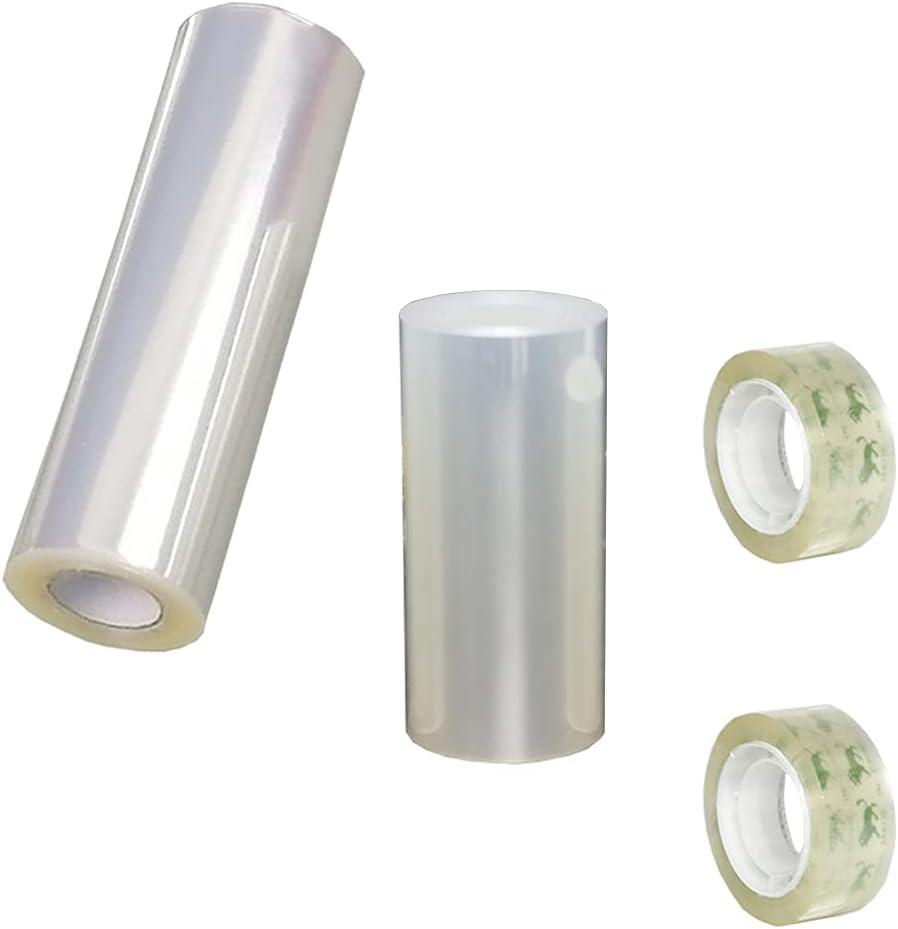 Transparente Rollo de Pasteleria,2 Rollos de Acetato Cinta de Envoltura de Borde Circundante para Decoración de Repostería y Mousse+2 rollos de cinta
