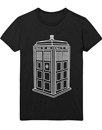T-Shirt Dr. Who POLICECALLBOX H23177 Schwarz XXXL