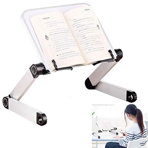 Supporto per libri regolabile supporto per libri leggio per letto leggio leggio per libri leggio da letto per libri leggio da letto per libri altezza ergonomica e inclinazione regolabile