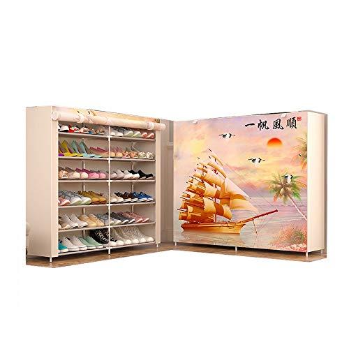 JCXOZ Y Sencilla Tela de Zapatos Gabinete Moderna/Zapato práctico Bastidores de Varios Pisos hogar Economía Sección/Botas Dedicado Sencilla Polvo Asamblea Gabinete de Almacenamiento (Size : Shoes)