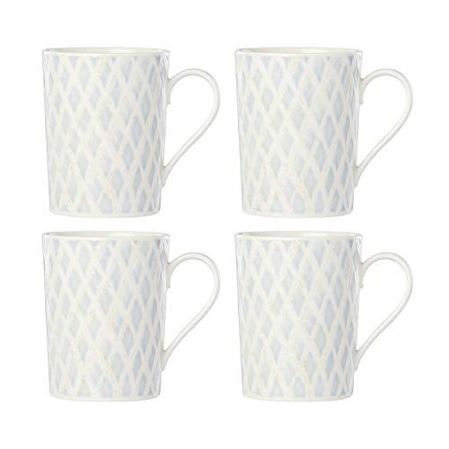Lenox Textured Neutrals Netting 4 Piece Mug Set 2 60 Lb Blue From Amazon Accuweather Shop