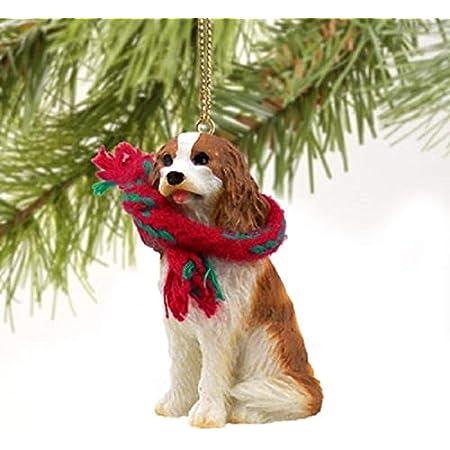 Amazon Com 1 X Cavalier King Charles Spaniel Miniature Dog Ornament Brown W Home Kitchen