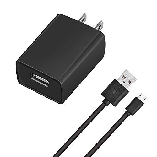 "Kindle Fire Fast Charger, Sopito 2A AC Adapter Rapid Charger with Micro-USB Cable Compatible for Tablet Hd, Hdx 6"" 7"" 8.9"" 9.7"" Tablets and Phones, Tab Power Supply Cord [UL Listed]"