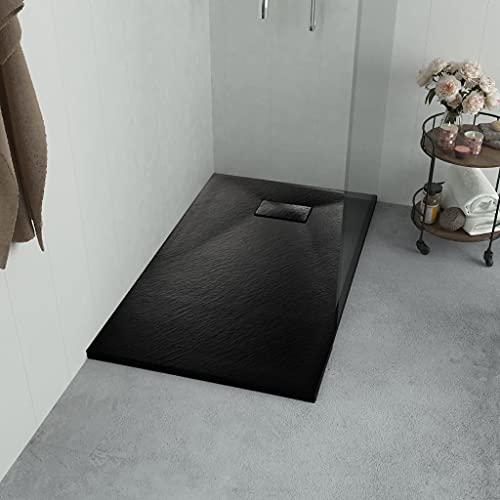 Plato de ducha, Plato de ducha Base Plato de ducha Plato de ducha SMC Negro 100x70 cm