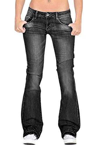 New Andongnywell Jeans for Women Plus Size Women's Modern Boot Cut Jean High Waist Denim Skinny Jean...