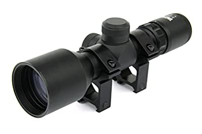 TacFire 3-9X42 Compact Tactical Rangefinder Reticle Rifle Scope Weaver Picatinny Rings and Lens Covers by TacFire Inc