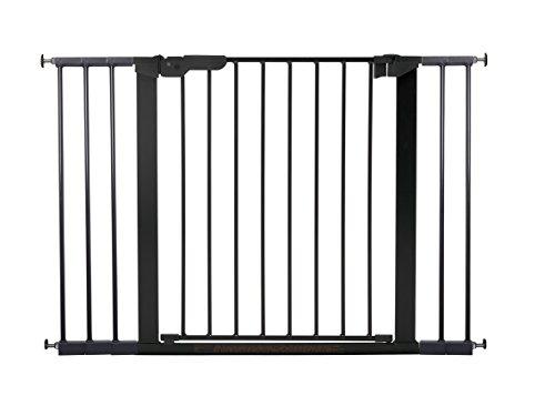 BabyDan Premier Türschutzgitter / Treppenschutzgitter zum Klemmen, 105,5 - 112.8 cm - hergestellt in Dänemark und vom TÜV GS geprüft, Farbe: Schwarz