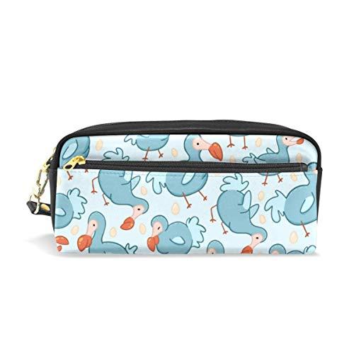 Pencil Bag Pen Case mit süßem Mauritius Dodo Bird Print PU Leder