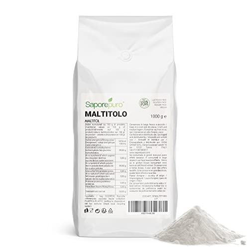 Maltitol - Maltit Pulver - Alternativer Zucker mit niedrigem glykämischen Index - 1000 GR