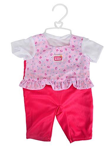 Simba 105401631 - New Born Baby Puppenkleidung / Bonus Pack / 3-fach sortiert / Es wird nur ein Artikel geliefert / Mit Rassel und Windel / Für 38-42cm Puppen