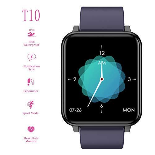 ZDY Smartwatch para Damas, Rastreador de Actividad a Prueba de Agua IP68 con podómetro de Ritmo cardíaco Presión Arterial Rastreador de sueño, Fitness Pulsera Healthwatch para iOS/Android.