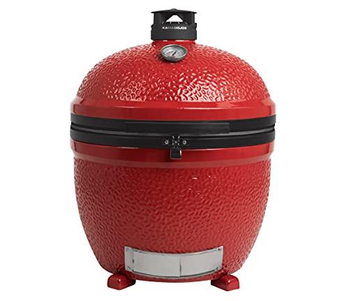 Kamado Joe BJ24NRHC Big Joe II Stand Alone Charcoal Grill, Blaze Red