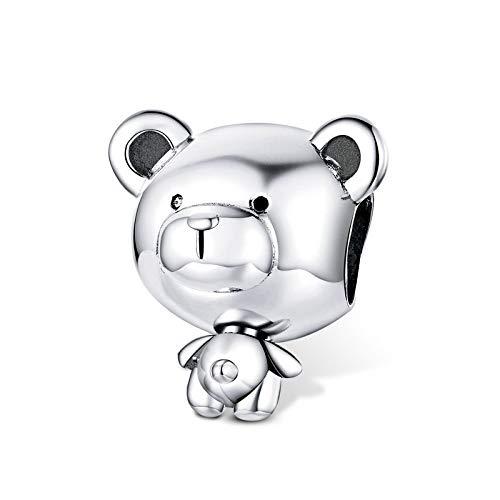 Breloque ours en argent sterling pour bracelet Pandora