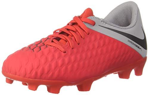 Nike Jr Hypervenom 3 Club FG, Zapatillas de fútbol Sala Unisex niño, Multicolor (Lt Crimson/Mtlc Dark Grey-Wolf Grey 600), 29.5 EU