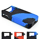 Cyameri Texture Case for Lost Vape Orion DNA 40W POD Box Mod Protective Silicone Skin Rubber Cover Sleeve Wrap Gel Shield Fits Lostvape (Blue/Black)