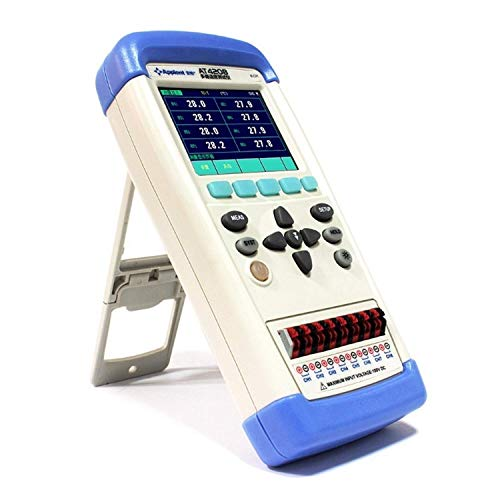 FYYONG Multímetro de 8 canales de mano de temperatura del termómetro termopar Meter registrador Logger J/K/T Display/E/S/N/B termopar AT4208 Digital