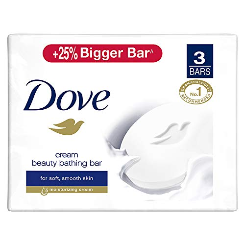 Dove Cream Beauty Bar – Soft, Smooth, Moisturised Skin, 3×125 g