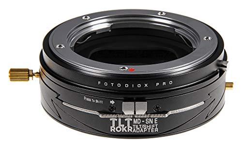 Fotodiox Pro TLT ROKR - Tilt/Shift Lens Mount Adapter Compatible with Minolta Rokkor (SR/MD/MC) SLR Lenses to Sony Alpha E-Mount Mirrorless Camera Body