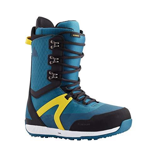Burton Kendo - Botas de snowboard para hombre, talla 42, color azul y amarillo