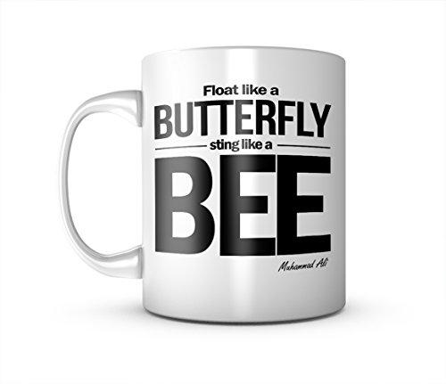 Fly Like A Butterfly Sting Like A Bee Muhammad Ali Zitat Keramik Tasse Kaffee Tee Becher Mug