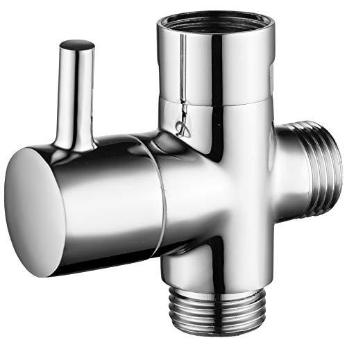 """Ciencia Válvula de 3vias, latón macizo, G 1/2"""", para brazos de ducha y elementos para ducha universales"""