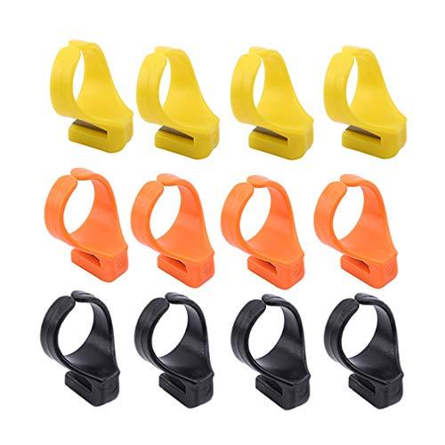SUNSKYOO 12 Stücke Finger Messer Ring ABS Nähen Fingerhut Fadenabschneider Nähzubehör Handwerk DIY Werkzeug