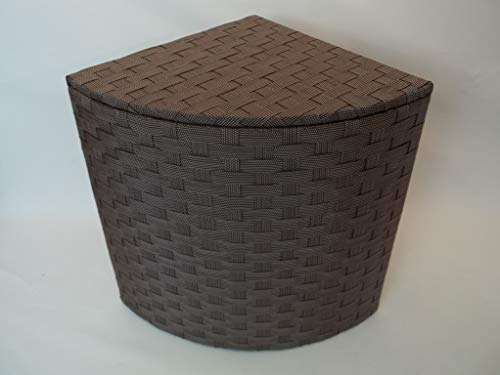 Eckwäschetruhe, Wäschekorb, Sitztruhe, Größe 2