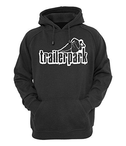 Trailerpark Hoody Logo schwarz, Farbe:schwarz, Größe:L