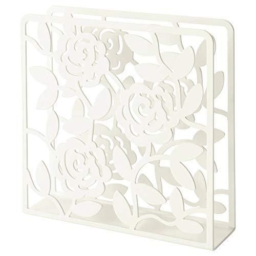 Ikea Napkin Holder White Floral Design, Steel by Ikea