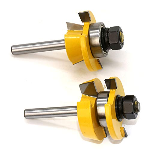 Fonture 1/4 Inch Shank || Bevel Rail And Stile Router Bit Set