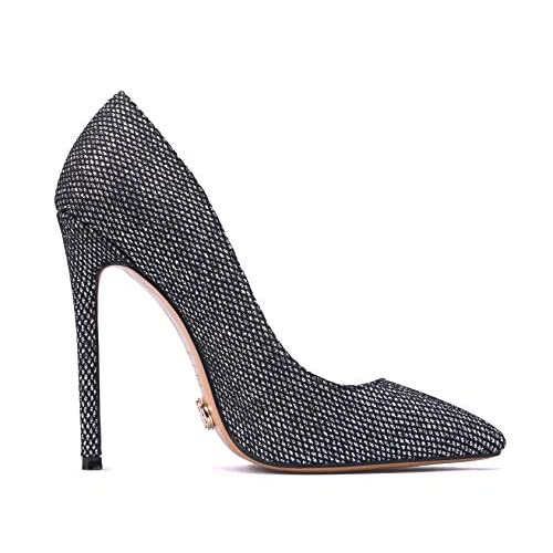 Petit Cadeau Leona – Women's Classic & Sexy Pointed Toe Slip on Pumps with 5″ Stiletto High Heels. Handmade to Perfection.
