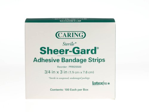 Medline PRM25500 Caring Plastic Adhesive Bandages, 3/4' x 3', Natural (Pack of 1200)