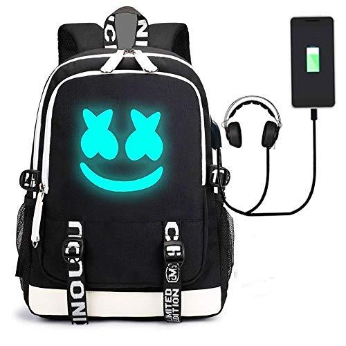 Diebstahlsicherer leuchtender Laptop-Rucksack mit USB-Ladeanschluss, Unisex-Rucksack College School Travel Backpack Daypack