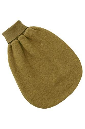 Strampelsack Fleece, Schurwolle, Engel Natur, 3 Farben (Größe 1, Grün melange)