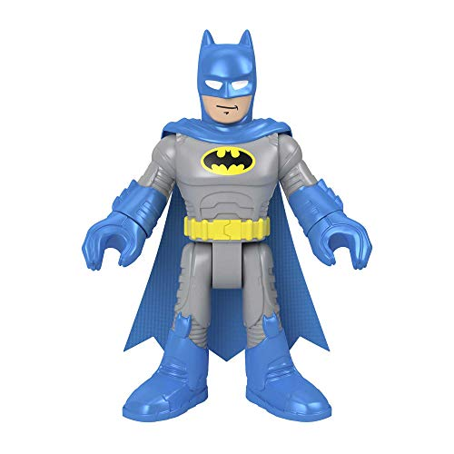 Fisher-Price Imaginext DC Super Friends Batman XL Blue, Extra-Large Figure with Fabric Cape for Preschool Kids Ages 3-8 Years