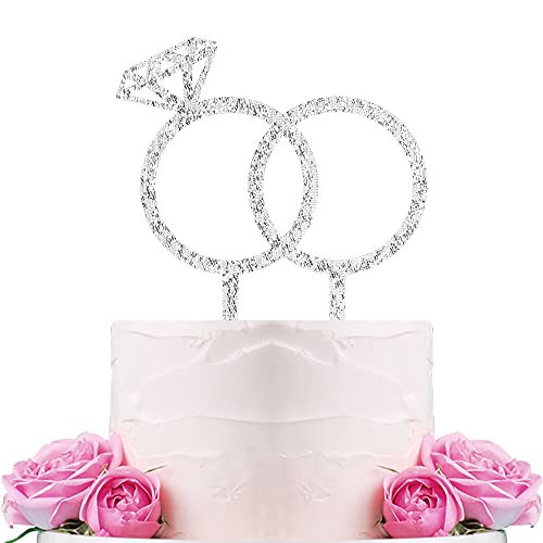 Diamond Ring Cake Topper - Engagement - Wedding - Bridal Shower - Valentine Party Decoration