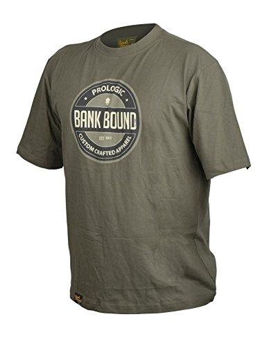 Prologic Tee Shirt Homme Manches Courtes Bank Bound Badge - Kaki - Kaki, XXL