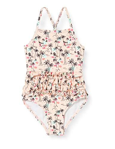 Noppies Baby-Mädchen G Swimsuit Citrus AOP Badeanzug, Mehrfarbig (Impatience Pink P029), 62/68 (Herstellergröße: 62-68)