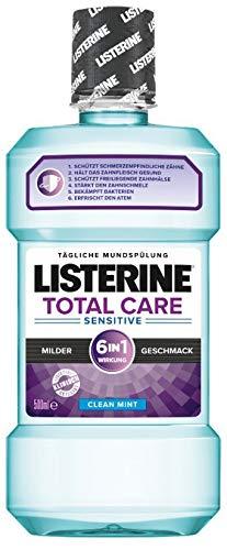 Listerine Total Care Sensitive Mundspülung (für schmerzempfindliche Zähne) 1er Pack (1 x 500 ml)