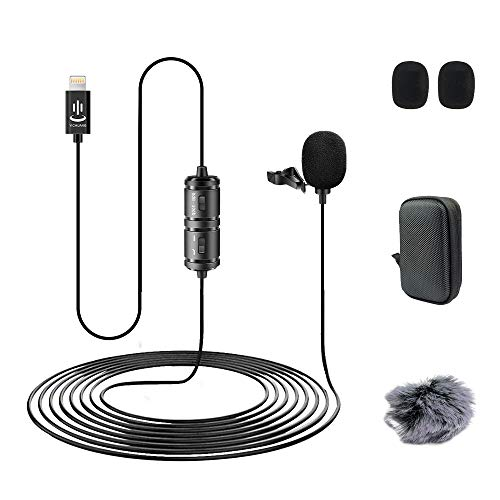 Professional lavalier Microphone for iPhone use, can be Used for interviews, Live Recording, Teaching Video Recording