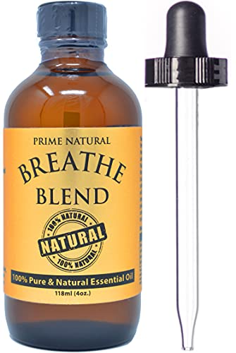 Breathe Essential Oil Blend 4oz - by Prime Natural - Made in...