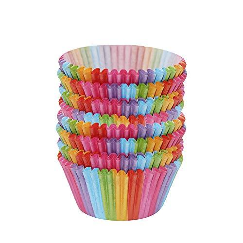 200 Stück Rainbow Cupcake Fällen Kuchen Backen Muffin Dessert Hochzeit Party