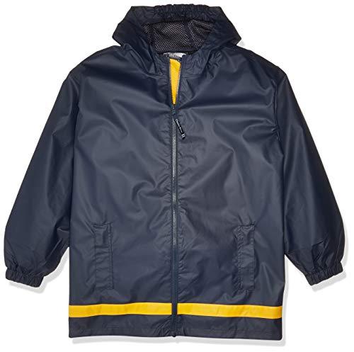 Charles River Apparel Kids' Big New Englander Rain Jacket, True Navy/Yellow, S