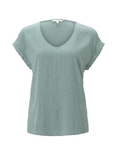 TOM TAILOR Denim Damen Sporty Bluse, 24326-Mint White dot, S
