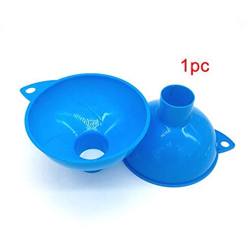 Tolva de embudo de plástico resistente al desgaste, artilugios duraderos y reutilizables, embudo liviano con boca ancha para cocina doméstica, uso de combustible de aceite