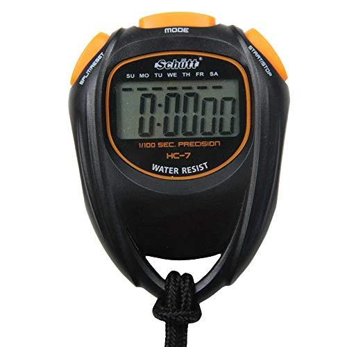 Cronometro Schütt HC-7 - cronometro digitale con ampio display | buon punto di pressione | Hobby | Sport | Tempo libero | a prova di schizzi | adatto ai bambini