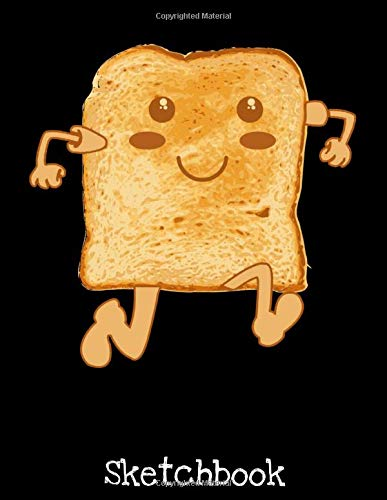 Sketchbook: Bread Toast Costume Funny Gluten Sketch Book with Blank Paper for Drawing Painting Creative Doodling Sketching Pad - 8.5 x 11 inch 120 ... Lovers Journal And Sketch Pad For Drawing