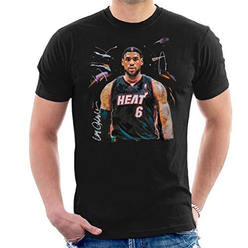 VINTRO Camiseta de manga corta para hombre, diseño de Lebron James Miami Heat Jersey
